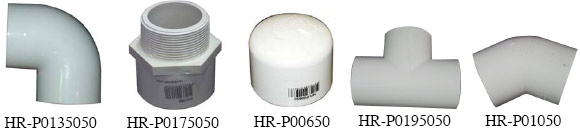 HR Products CL18 PVC Fittings Image